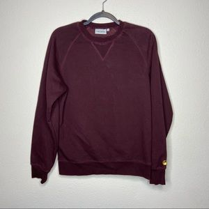CARHARTT Chase Sweatshirt Shiraz Small Crew Neck